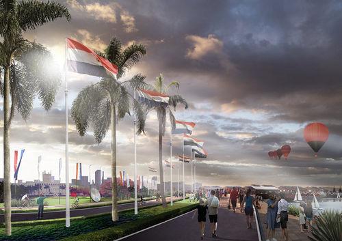 El parque Bicentenario. Imagen: Plan CHA.