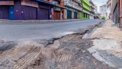 Calles vacías en el CHA. Fuente: Fotociclo/Juan Carlos Meza