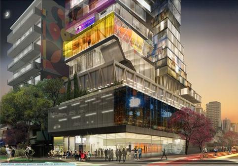 Vista-del-edificio-catalizador-grado-01-sobre-solar-con-edificio-abandonado.-Image-Cortesia-de-Plan-CHA